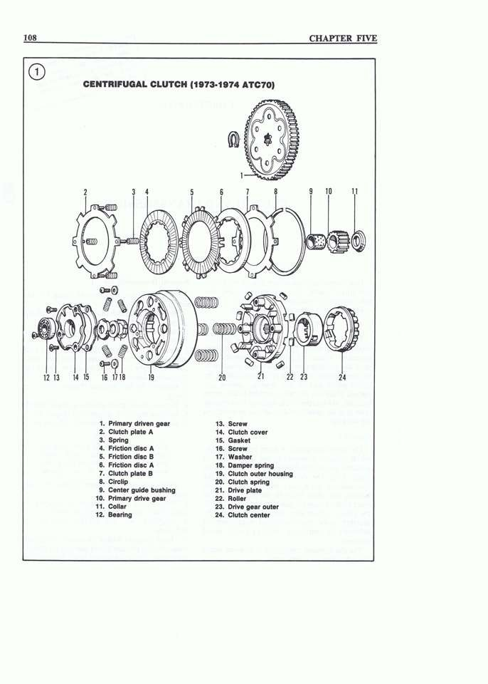 chinese atv repair shop manual clutch diagram exploded views image zoom